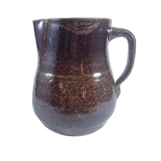 Southern Alabama Folk Art Pottery Pitcher