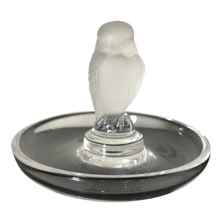 Vintage Lalique Owl Ring Holder