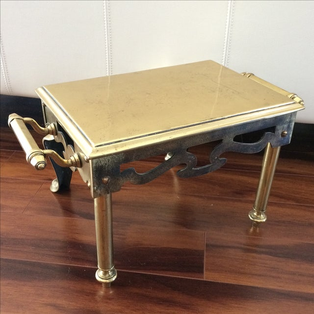 Antique Brass & Iron Foot Warmer Stool - Image 6 of 8