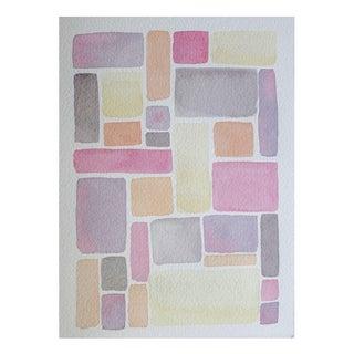 """""""Squares: Desert"""" Watercolor by Celia Agnes"""