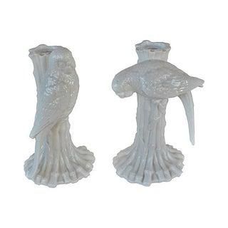 Parrot Candleholders - A Pair