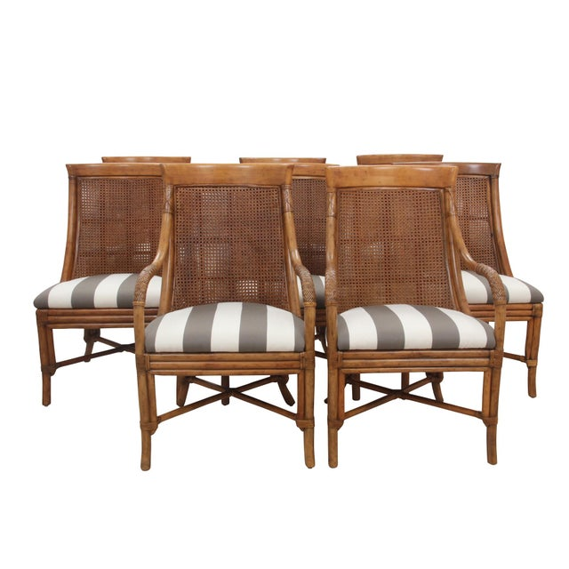 Bamboo Dining Chairs - Set of 8 - Image 9 of 9