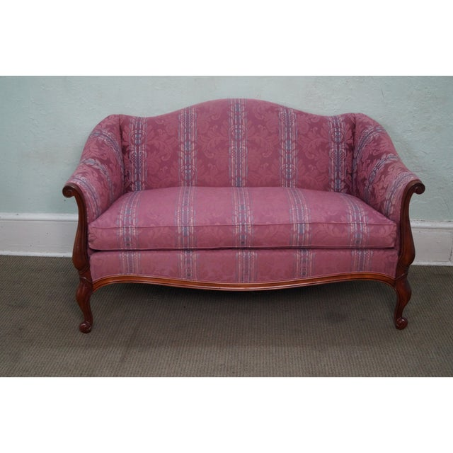 Hickory Chair French Mahogany Frame Loveseat - Image 2 of 10