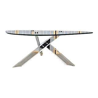 Jonathon Adler Glass Chrome & Lucite Coffee Table