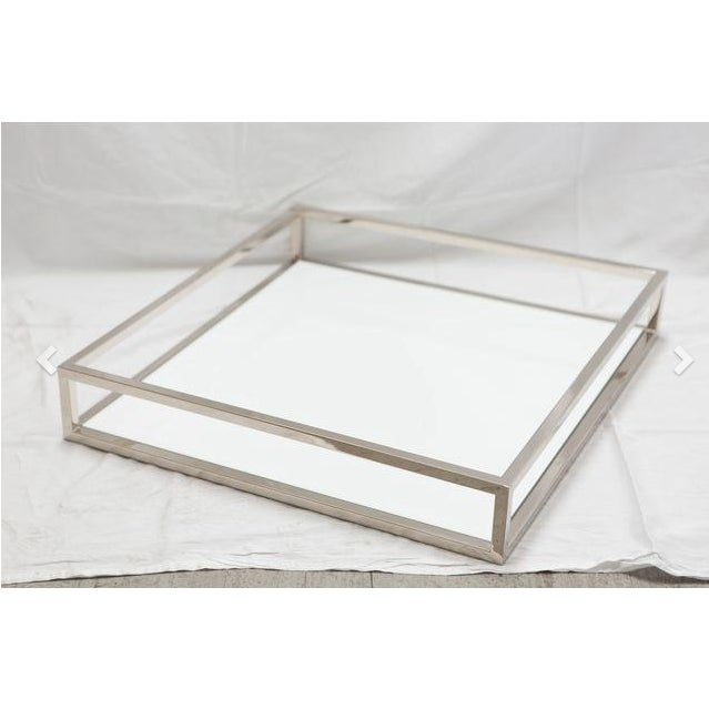 Chrome & White Tray - Image 2 of 2
