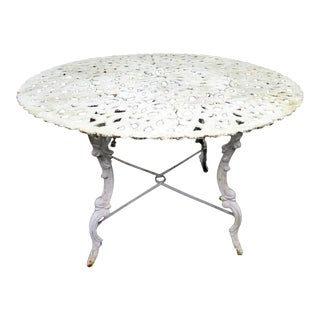 White Iron Round Table