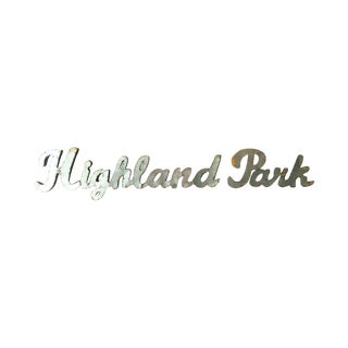 "Industrial ""Highland Park"" Metal Sign"