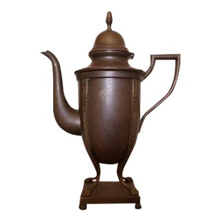Vintage Brass Teapot on Pedestal
