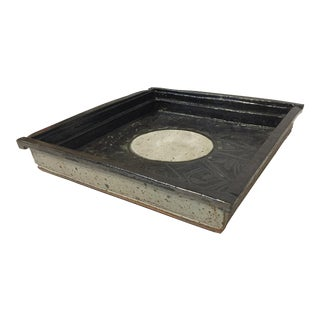 Gerry Williams Mid-Century Stoneware Tray Dish