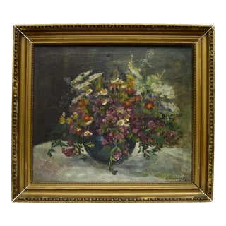 Floral Still Life Oil Painting, 1924
