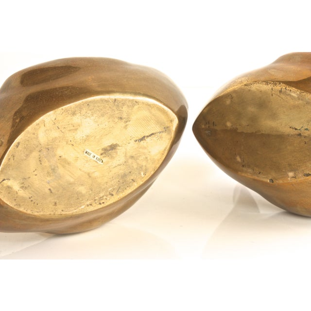 Image of Large Scale Brass Geese - A Pair