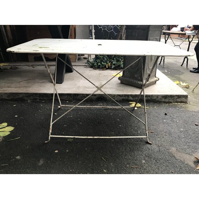 1880 Antique French Folding Garden Table - Image 5 of 5