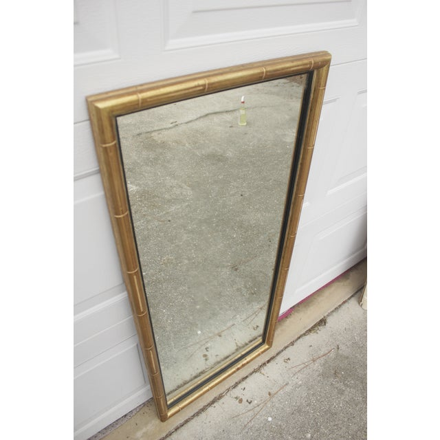 Faux Bamboo Gold Mirror - Image 3 of 5