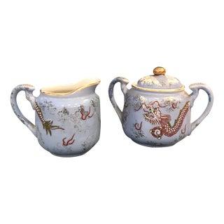 Set of Dragon Cream and Sugar - Pair
