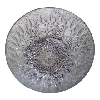 Pressed Glass Fruit Bowl