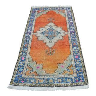 Anatolian Oushak Handmade Rug - 3′3″ × 6′7″