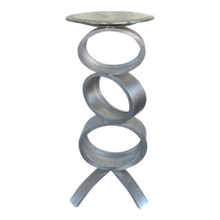 Sculptural Metal Rings Pedestal