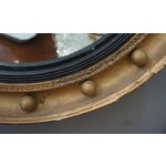Image of Regency Style Convex Gilt Frame Mirror