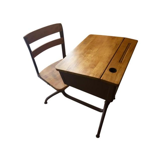 Vintage Home School Desks - Pair - Image 1 of 11