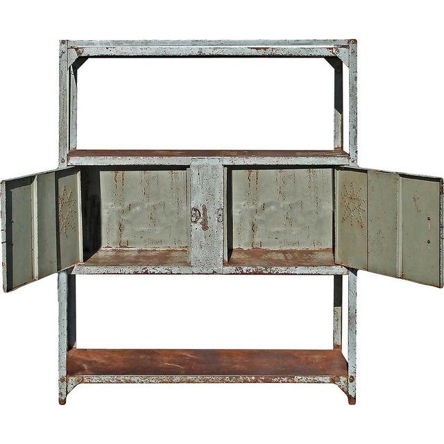 Vintage Double Door Iron Rack - Image 3 of 5