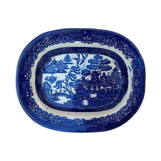 19th C. Victorian Blue Willow Wall Platter