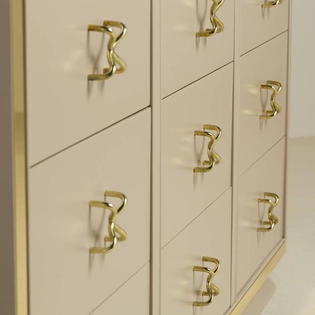 Unique Nine-Drawer Satin Lacquered Cabinet, 1950s - Image 3 of 8