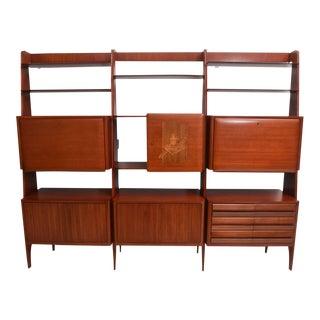 Rare Italian Modern Mahogany Tall Bookcase