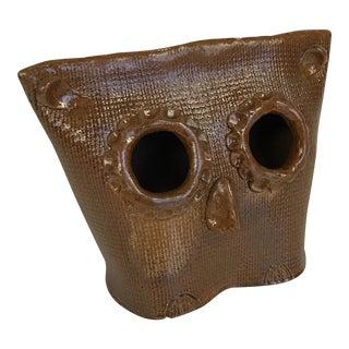 Contemporary Rustic Ceramic Owl