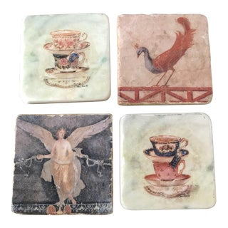 Pictorial Ceramic Coasters - Set of 4