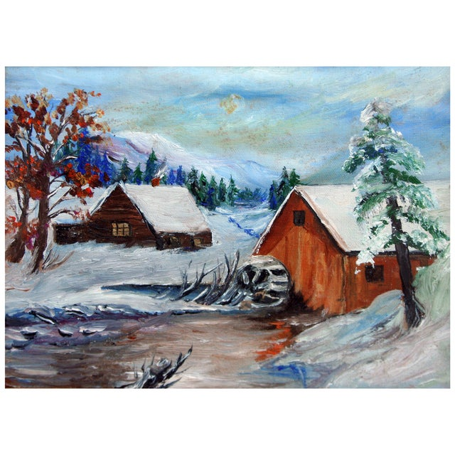 Image of Grist Mill During Winter by Keith