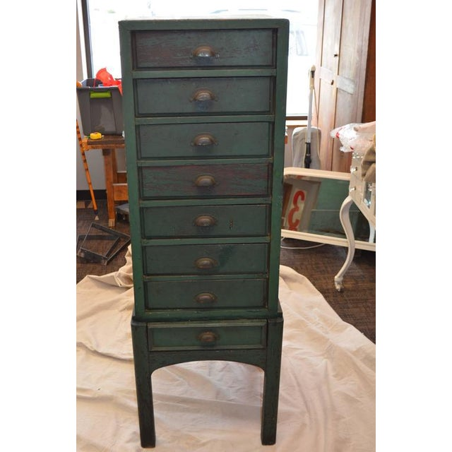Green Painted Eight-Drawer Cabinet - Image 3 of 10