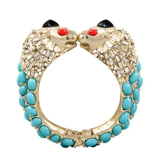Chanel Lion Head Hinged Cuff Bracelet