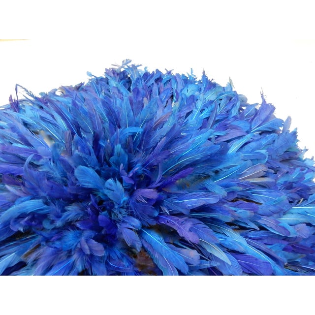 Juju Hat Cobalt Blue African Wall Hanging - Image 3 of 6