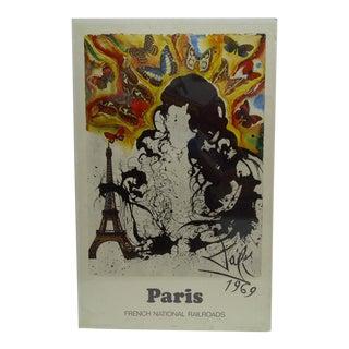 "Vintage Salvador Dali ""Paris"" Poster"