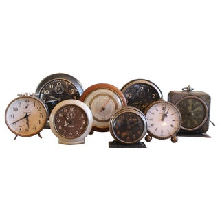 Vintage Clocks - Set of 8