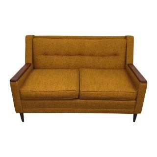 Mid-Century Modern Mustard Love Seat