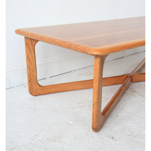 Image of Lane Sculpted X-Base Coffee Table