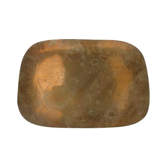 Vintage Brass Planets and Stars Tray - Image 1 of 5