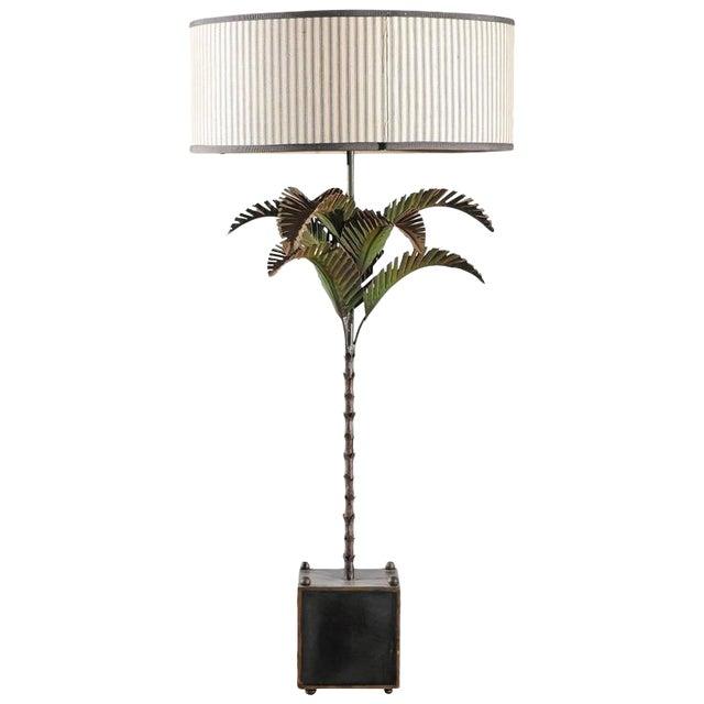 Italian Tole Palm Lamp - Image 1 of 5