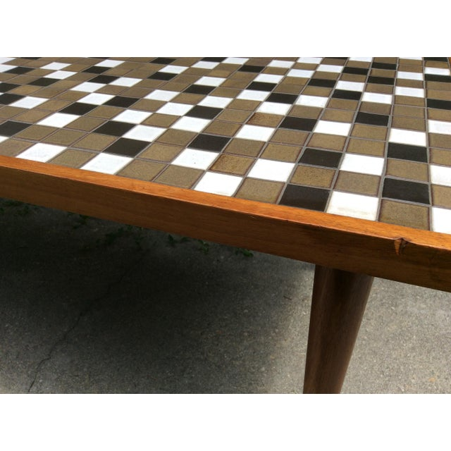 Mid Century Tile Top Coffee Table: Mid-Century Modern Tile Top Coffee Table