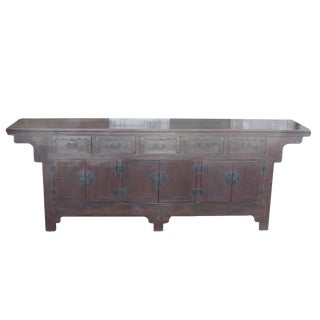 Long Mongolian Sideboard