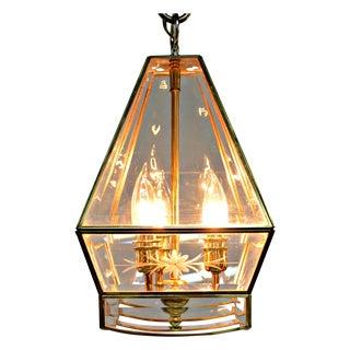 Vintage Pyramidal Lantern Pendant