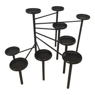 Crate & Barrel Black Fireplace Candelabra