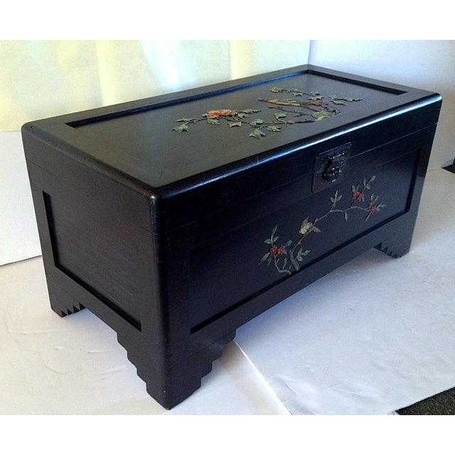 Image of Chinese Chest With Stone Inlay
