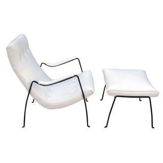 Milo Baughman Mid-Century Scoop Chair & Ottoman