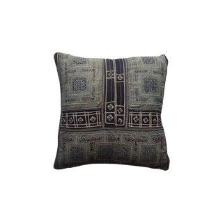 Hmong Batik Indigo Pillow