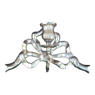 Brass Ribbon Candle Sconce