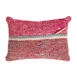 Pink & Red Peruvian Frazada Pillow