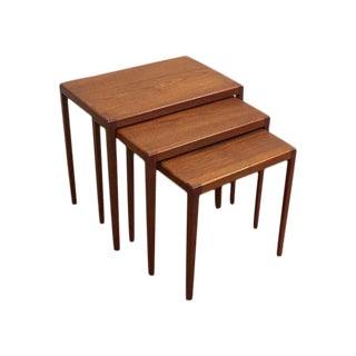 Ludvig Pontoppidan Teak Nesting Tables - Set of 3