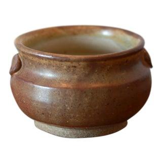Small Wheel Thrown Studio Pottery Ceramic Stoneware Bowl with Handles